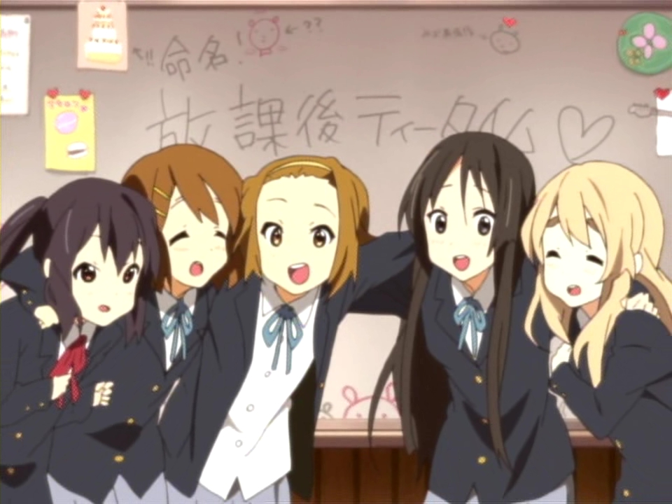 mangaanime series K-On   K On Characters