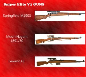 Sniper elite v2 guns