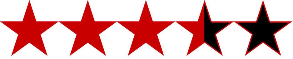3.5 star rating