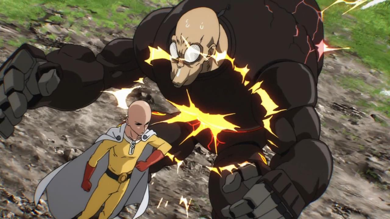 anime review a hero rises in one punch man b3 the boston