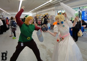 "Link & Princess Peach from ""Super Smash Brothers"""