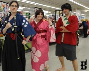 """Jin, Fuu, & Mugen from """"Samurai Champloo"""""""